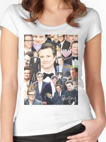 colin firth collage Women's Fitted Scoop T-Shirt