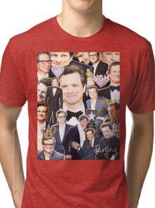 colin firth collage Tri-blend T-Shirt