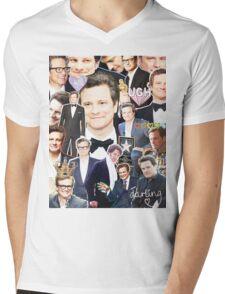 colin firth collage Mens V-Neck T-Shirt