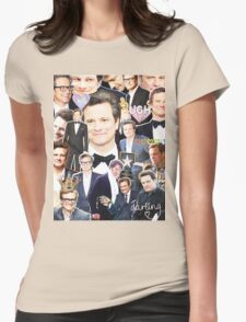 colin firth collage Womens Fitted T-Shirt