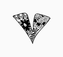"Hipster Letter ""V"" Zentangle Unisex T-Shirt"