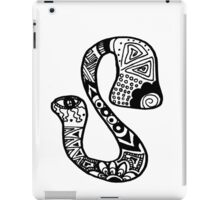 "Hipster Letter ""S"" Zentangle iPad Case/Skin"