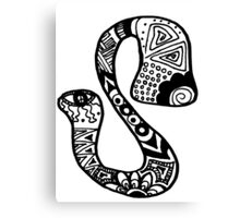 "Hipster Letter ""S"" Zentangle Canvas Print"