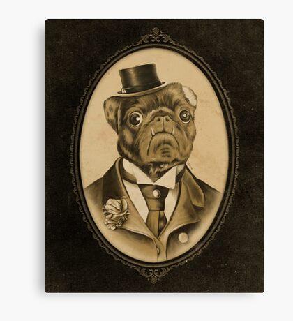 Vintage Pug Monster  Canvas Print