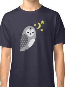 Grey Owl and Stars Classic T-Shirt