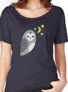 Grey Owl and Stars Women's Relaxed Fit T-Shirt
