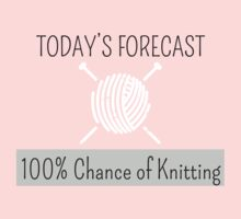 Knitting Products - Today's Forecast: 100% Chance of Knitting One Piece - Short Sleeve