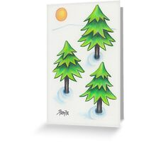 Winter Greens Greeting Card