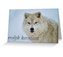 Arctic Wolf Christmas Card - Dutch - 15 Greeting Card