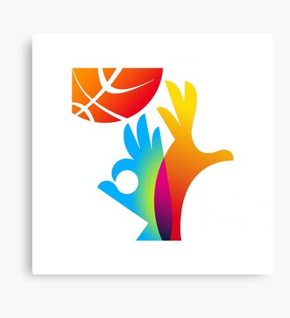 Basketball World Cup 2014 big logo Canvas Print