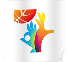 Basketball World Cup 2014 big logo Poster