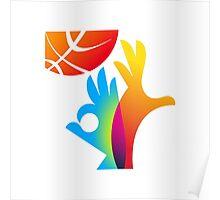 Basketball World Cup 2014 big logo Poster