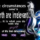 """Mewtwo """"Gift of Life"""" quote by Arsyro"""