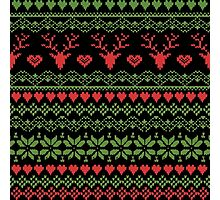 80's Christmas Knitted Sweater Photographic Print