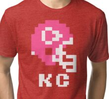 Tecmo Bowl Kansas City Football 8-Bit NES Nintendo Pixel T Shirt Tri-blend T-Shirt