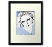 Girl with blue eyes Framed Print