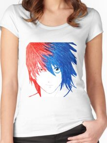 Light Vs L - Death Note Women's Fitted Scoop T-Shirt