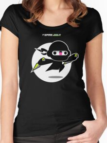 Game Jolt Ninja Women's Fitted Scoop T-Shirt