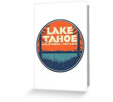 Lake Tahoe California Nevada Vintage State Travel Decal Greeting Card