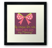 Baby Girl Bow Framed Print
