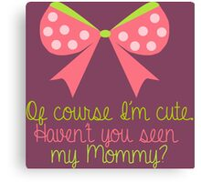 Baby Girl Bow Canvas Print