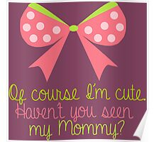 Baby Girl Bow Poster