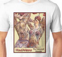 MAUD ARIZONA; Vintage Tattooed Lady Print Unisex T-Shirt
