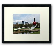 Spoon & Cherry Sculpture Framed Print