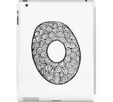 "Hipster Letter ""O"" Zentangle iPad Case/Skin"