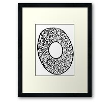 "Hipster Letter ""O"" Zentangle Framed Print"