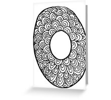 "Hipster Letter ""O"" Zentangle Greeting Card"