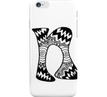 "Hipster Letter ""N"" Zentangle iPhone Case/Skin"