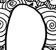 """Hipster Letter """"N"""" Zentangle Sticker"""