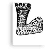 "Hipster Letter ""L"" Zentangle Canvas Print"