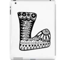 "Hipster Letter ""L"" Zentangle iPad Case/Skin"