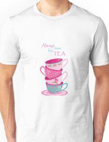 Time For Tea Grey Unisex T-Shirt