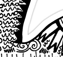 "Hipster Letter ""L"" Zentangle Sticker"