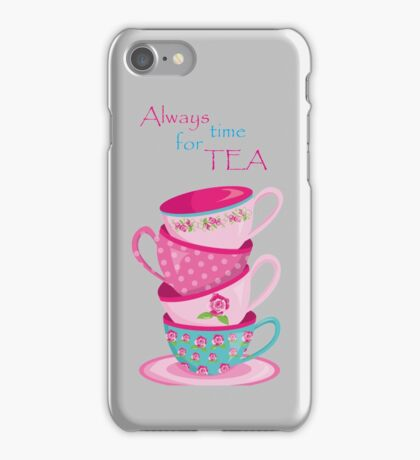 Time For Tea Grey iPhone Case/Skin