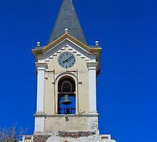 Church Steeple, Iglesia Maria Auxiliadora, Puerto Natales, Chile by Bob Ramsak