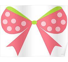 Polka Dot Bow Poster
