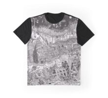 Imaginary Futuristic Cityscape Graphic T-Shirt