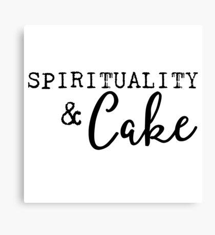 Spirituality and Cake Canvas Print