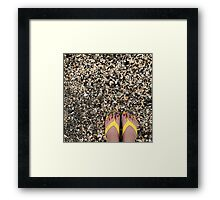 Painted Toes in Yellow FlipFlops  Framed Print