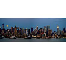Super Moon Panorama Photographic Print