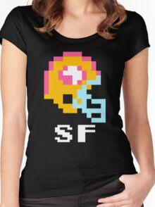 Tecmo Bowl San Francisco Football 8-Bit NES Nintendo Pixel T Shirt Women's Fitted Scoop T-Shirt