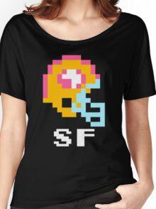 Tecmo Bowl San Francisco Football 8-Bit NES Nintendo Pixel T Shirt Women's Relaxed Fit T-Shirt