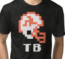 Tecmo Bowl Tampa Bay Football 8-Bit NES Nintendo Pixel T Shirt Tri-blend T-Shirt