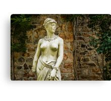 Old Statue Canvas Print