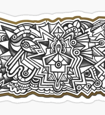 Abstract Dimensions (Black and White) Design 017 Sticker