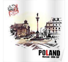 Poland - Polska Warsaw Warszawa Poster